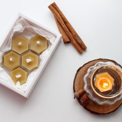 천연 꿀초 티라이트 캔들 세트