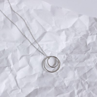 Lunar eclipse necklace (실버 원형 목걸이) [92.5 silver]