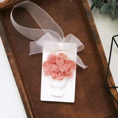 핑크 스칸디아모스 석고방향제(Tablet)