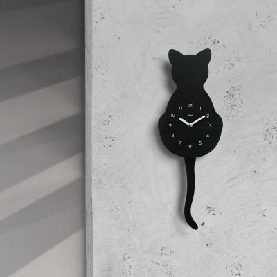 고양이 무소음 벽시계 (추시계)