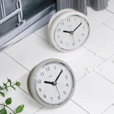 마블 패턴 욕실 방수 흡착 시계 (2color) _거치대포함