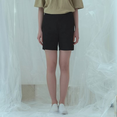 [어나더프레임] BASIC TWILL BANDING SHORTS (BLACK)_(809231)