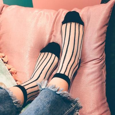 포니 시스루 라인 고급 모노폴리 반짝이 패션양말