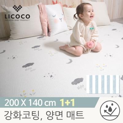 [리코코] 1+1 이모션 놀이방매트-스프링스카이 200x140x1.5cm