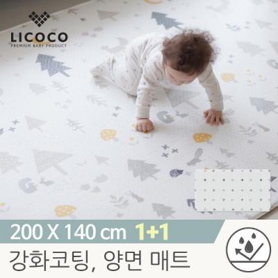 [리코코] 1+1 이모션 놀이방매트-메싸프렌즈 200x140x1.5cm