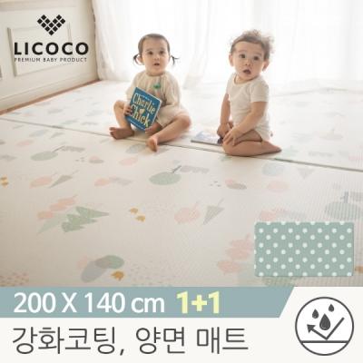 [리코코]1+1이모션 놀이방매트-마리의숲200x140x1.5cm/특수강화코팅