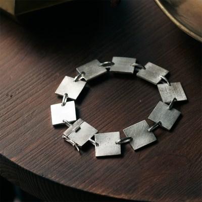 [normaldott] Link bracelet | square type