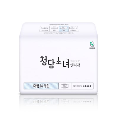 청담소녀 생리대(대형 14p)
