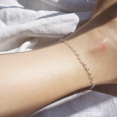 silver simple ankle bracelet no.2