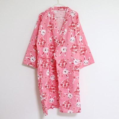 벚꽃토끼 코튼 유카타 잠옷