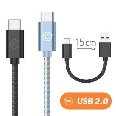 랩씨 USB C to USB A 충전 데이터 케이블 15cm 맥북 프_(2090338)