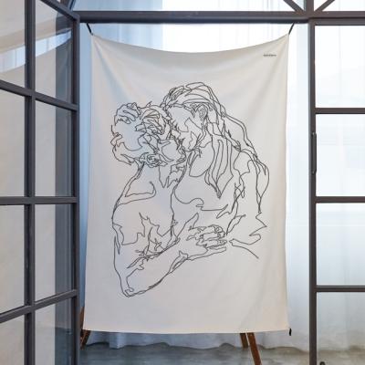 컨투어 드로잉 패브릭 포스터 / 가리개커튼