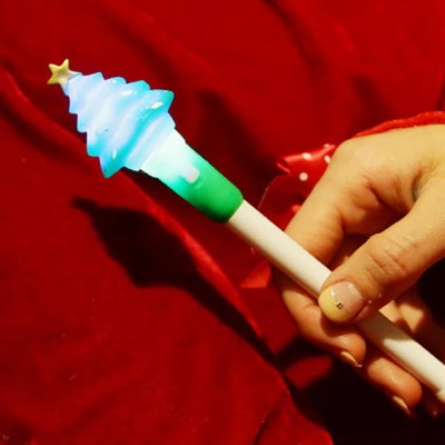점등 크리스마스 볼펜 (트리)_(301527974)