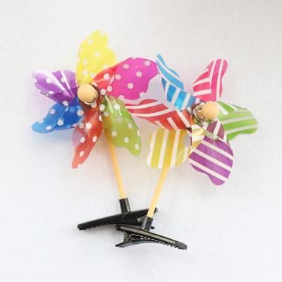 바람개비 머리핀 (플라스틱)_(301526792)