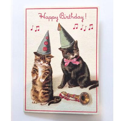 카발리니 카드-Happy birthday cats2