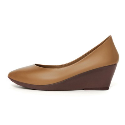 [W6] Wedge Heel6 - Pointed Camel Brown (W6-P-CB-)