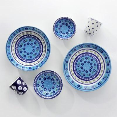 보니타 12cm접시 블루