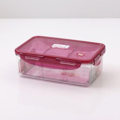 락앤락 향균 비스프리 스테커블 직사각 1L(칸칸이) LBF817CW