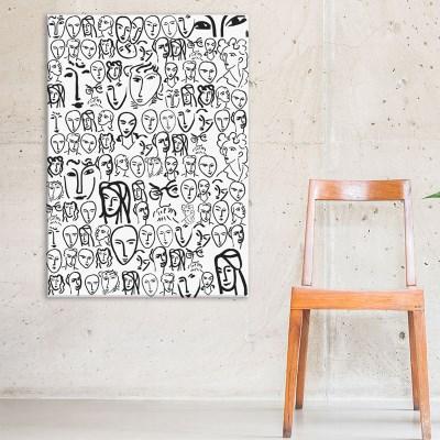 패브릭액자 명화 마티스 대형액자 60x84(A1), 70x100cm 얼굴들