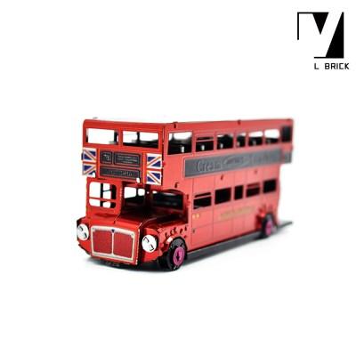 3D 이노 메탈 퍼즐 탈것 모형 영국 런던 2층 버스