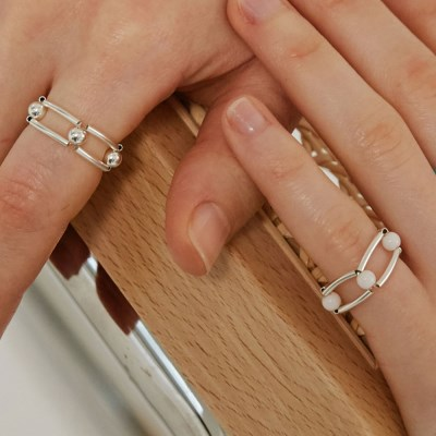 White infinity ring