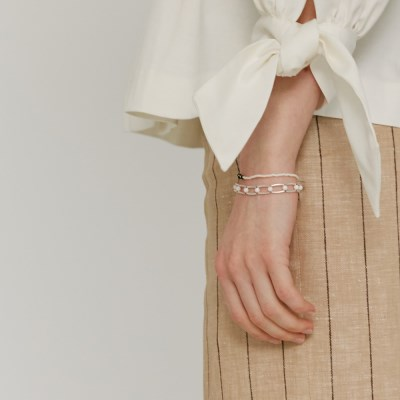 White infinity bracelet