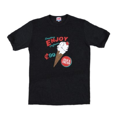 ICE CREAM CONE T-SHIRTS_CHARCOAL
