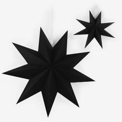 블랙 페이퍼 스타 모빌