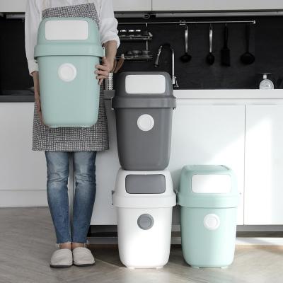 [올리빙] 도트 가정용 재활용 분리수거함 60L 2P