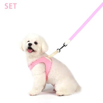 [세트할인] 이지 하네스 + 리드줄  핑크