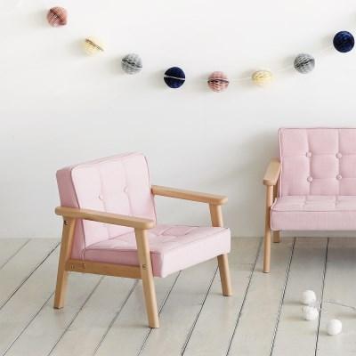 키즈패브릭1인소파(핑크)