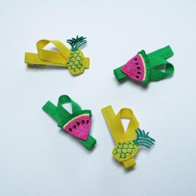 fruit hairpin (어린이집선물로 좋은 과일 헤어핀)