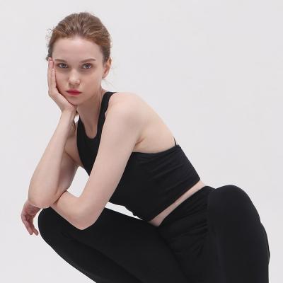 여성 요가복 DEVI-TS0001-블랙 필라테스 브라탑