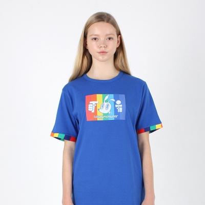 [TOi] TSW 레인보우 반팔티셔츠 블루