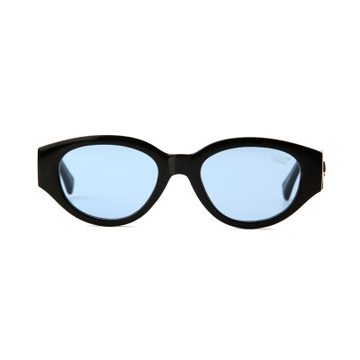 D.fox Original Glossy Black / Blue Tint Lens
