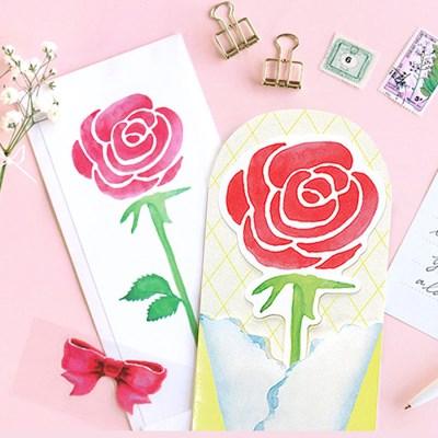 장미 한송이 카드