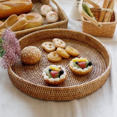 라탄 원형빵바구니