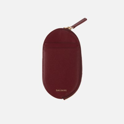 Oval Slim Card Wallet burgundy