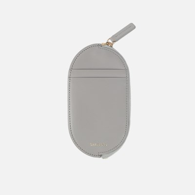 Oval Slim Card Wallet Light Grey