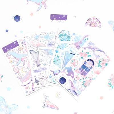 마넷 컷팅스티커 sampler - 달빛 고래
