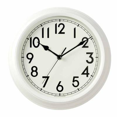저소음 리투어메탈벽시계(White)