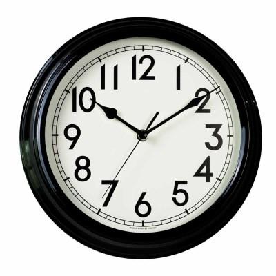 저소음 리투어메탈벽시계(Black)