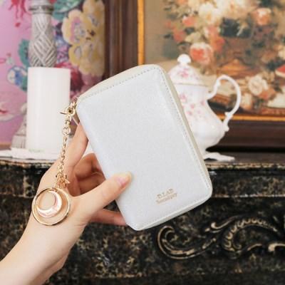 D.LAB Twinkle Zipper Wallet - White +키링