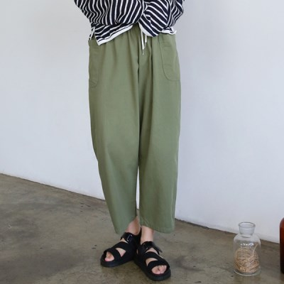 Big pocket string cozy pants