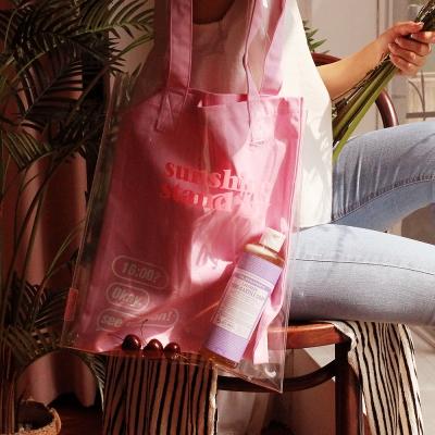 [텐바이텐 단독][레이지라운지] 선샤인 트윈 PVC에코백 핑크