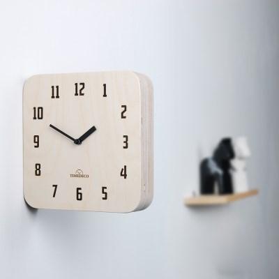 모던 레트로 우드 양면시계 내츄럴