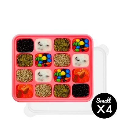 미스틱 프리미엄 실리콘 이유식 보관용기 핑크 4p(소+소+소+소)
