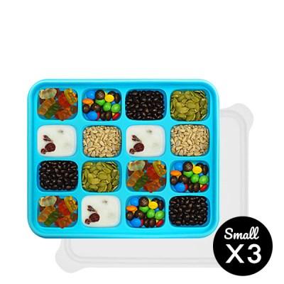 미스틱 프리미엄 실리콘 이유식 보관용기 블루 4p(소+소+소+소)