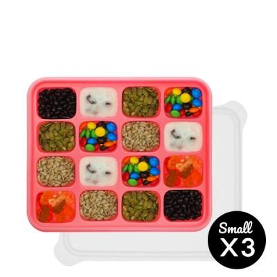 미스틱 프리미엄 실리콘 이유식 보관용기 핑크 3p(소+소+소)