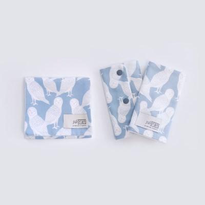 [율그란] 오가닉 아기띠침받이+버피트림타올 SET (오울스스카이)